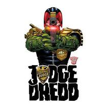 Judge Dredd Long Sleeve T shirt cool superhero comic 100% white cotton tee JD102 image 2
