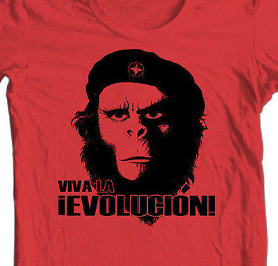Planet of the Apes Evolucion T-shirt Fee Shipping retro 70's movie cotton tee