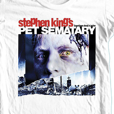 Pet Sematary T shirt Stephen King retro horror movie 100% cotoon graphic tee