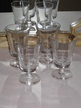 Heavyweight Clear Goblet Glasses Set of 4 Glassware - $40.99