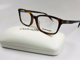 New Calvin Klein CK6007 214 Tortoise Eyeglasses 53mm with Case - $59.35