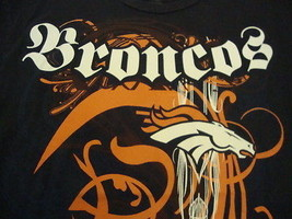 NFL Denver Broncos National Football League Fan Reebok Blue Soft T Shirt L - $17.56