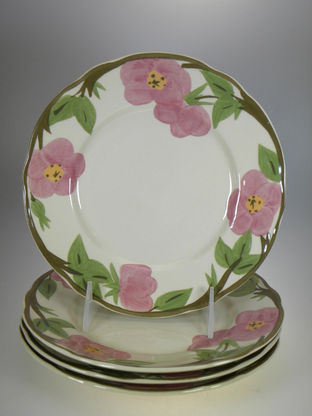 Franciscan Desert Rose Salad Plates Set of 4 BRAND NEW PRODUCTION