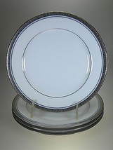 Noritake Piedmont Platinum Salad Plates Set of 4 NEW WITH TAGS - $28.01