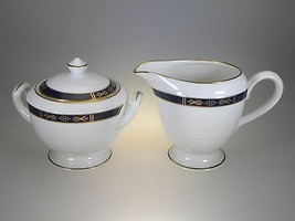 Royal Worcester Royal Lily Creamer & Covered Sugar Set NEW WITH TAGS Mad... - $42.97