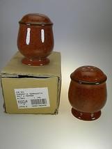 Mikasa Chromatic Terracotta Salt & Pepper NEW IN BOX  - $7.66