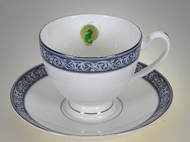 Waterford China Westport Tea Cup & Saucer NEW WITH TAGS Made in England - $28.01