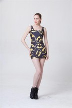 Batman Symbol Black One-Piece Mini Skirt Bodycon Slim Stretch Dress - $18.99