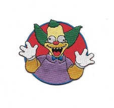 The Simpsons Krusty The Clown Laughing Face Embroidered Patch NEW UNUSED - $7.84