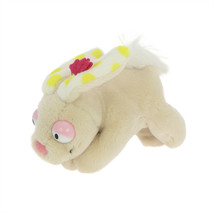 MagNICI Rabbit Bunny Beige Stuffed Toy Animal Magnet in Paws 5 inches 12 cm - $11.00
