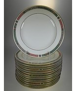 Pfaltzgraff Cabouchon Salad Plates Set of 14 Bone China Made in USA - $78.22