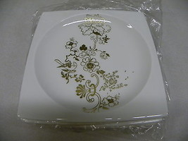 Wedgwood Plato Gold Elysian Square Accent Salad Plates Set of 4 BRAND NE... - $42.97