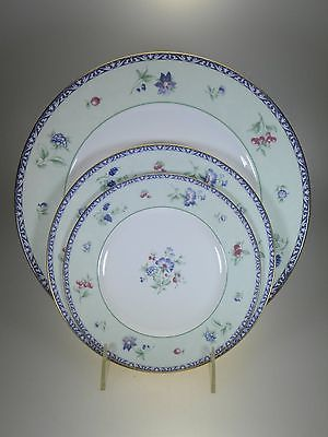 Wedgwood Meadow Field Dinner Plate, Salad Plate And Bread & Butter Plate