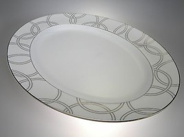 "Waterford China Halo Oval Platter 15.25"" NEW WITH TAGS Fine Bone China - $56.38"