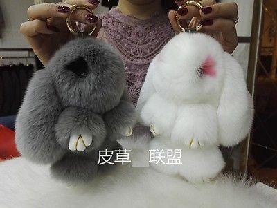 Rex Rabbit Fur Copenhagen Rabbit Bag Pendant Charm Car Decor Keychain Girl Gifts for sale  USA