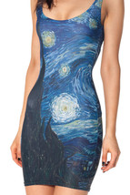 Starry Night Dresses One-Piece Mini Skirt Bodycon Slim Stretch Dress - $18.99