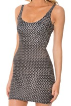 Grey Brown Chainmain One-Piece Mini Skirt Bodycon Slim Stretch Dress - $18.99