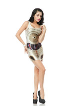 Threepio One-Piece Mini Skirt Bodycon Stretchy Women Vintage Dress - $18.99