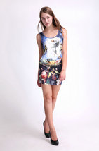 Jesus the Savior Rural Scenery One-Piece Mini Skirt Bodycon Stretchy  Dress - $18.99