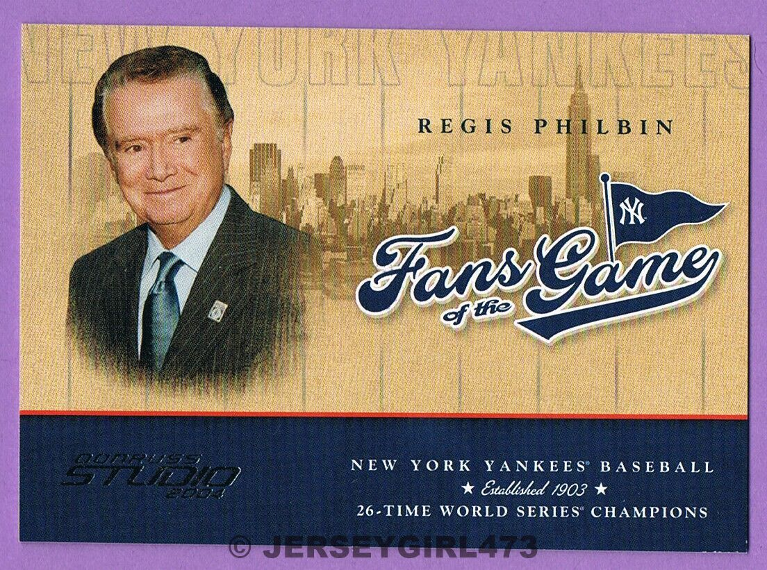 Regis Philbin 2004 Donruss Studio Fans of the Game Celebrity Card ~ YANKEES