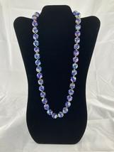Vintage Floral Cloisonne Enamel Graduated Bead Necklace Hand Knotted Roy... - $175.99
