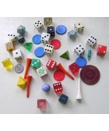 Vintage Game Pieces Assorted Die Lot - $16.00