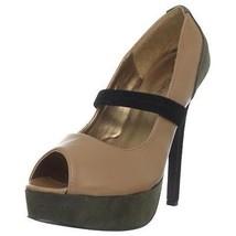 C LABEL VIBE-7 Open Toes Platform Pump Beige/Black Shoes Size 8.5(B,M) - $18.69