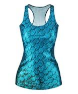 Turquoise Mermaid Scale  3D Digital Print Slim ... - $9.00