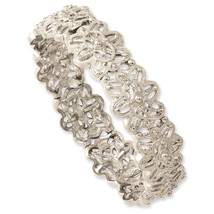 Ladies Silver Tone 1928 Boutique Stretch Bracelet - $27.34