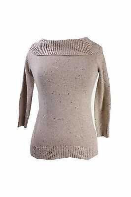 CHARTER CLUB NEW Womens Tan Metallic Turtleneck Sweater Top Petites PM