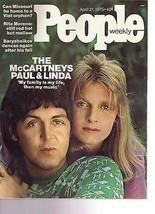 People Magazine The McCartneys Paul & Linda  April 21, 1975 - $14.80