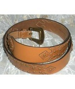 Chicos Large Ladies Genuine Leather  Brown/Tan ... - $22.99