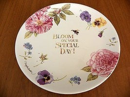 Marjolein Bastin Plate BLOOM ON YOUR SPECIAL DAY Nature's Sketchbook - H... - $15.19
