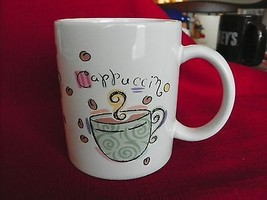 MUGZ BY GANZ CAPPUCCINO MUG CUP WITH COFFEE CUPS ON IT - $4.44