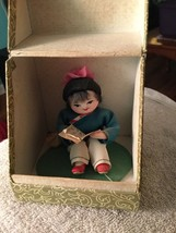 Vintage  Republic of China Doll In Box-Child Reading - $29.92