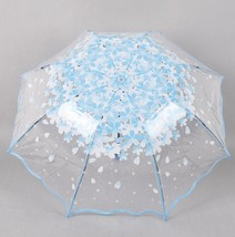 Folding princess rain umbrellas for female transparent flowers umbrella ... - $20.09