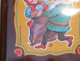 DUCADO SOLINGEN Vintage Old Coin Tin Box 2 Dwarfs Elves Dancing Stamped Germany image 5