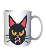 Cat Halloween Smiley 11oz Mug r549 - £8.36 GBP