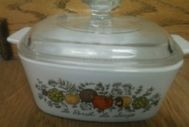 Vintage Corning Ware 1 1/2 qt Spice Of Life A-1 1/2-B  Baking Casserole With Lid - $14.67