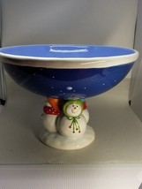 """St. Nicholas Square """"SNOW DAYS"""" Centerpiece (CTP) 7 1/2 inch Tall 10 Wide - $35.99"""