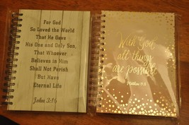 Set of 2 - Tri-Coastal Design Hard Back Religious Journal - $8.17