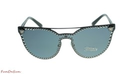 Versace Cat Eye Sunglasses VE2177 100987 Matte Black Silver Grey Lens 45mm - $202.73