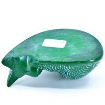 Tabaka Chigware Hand Carved Kisii Soapstone Green Sleeping Cat Figure image 6