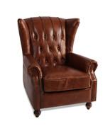 MarquessLife 100%Genunie Leather Handmade Tufted High Wing Back Sofa Arm... - $1,792.00