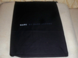 Authentic New Marc By Marc Jacobs Black Dust Bag Cover Travel ~Never Used 10x15 - $7.91