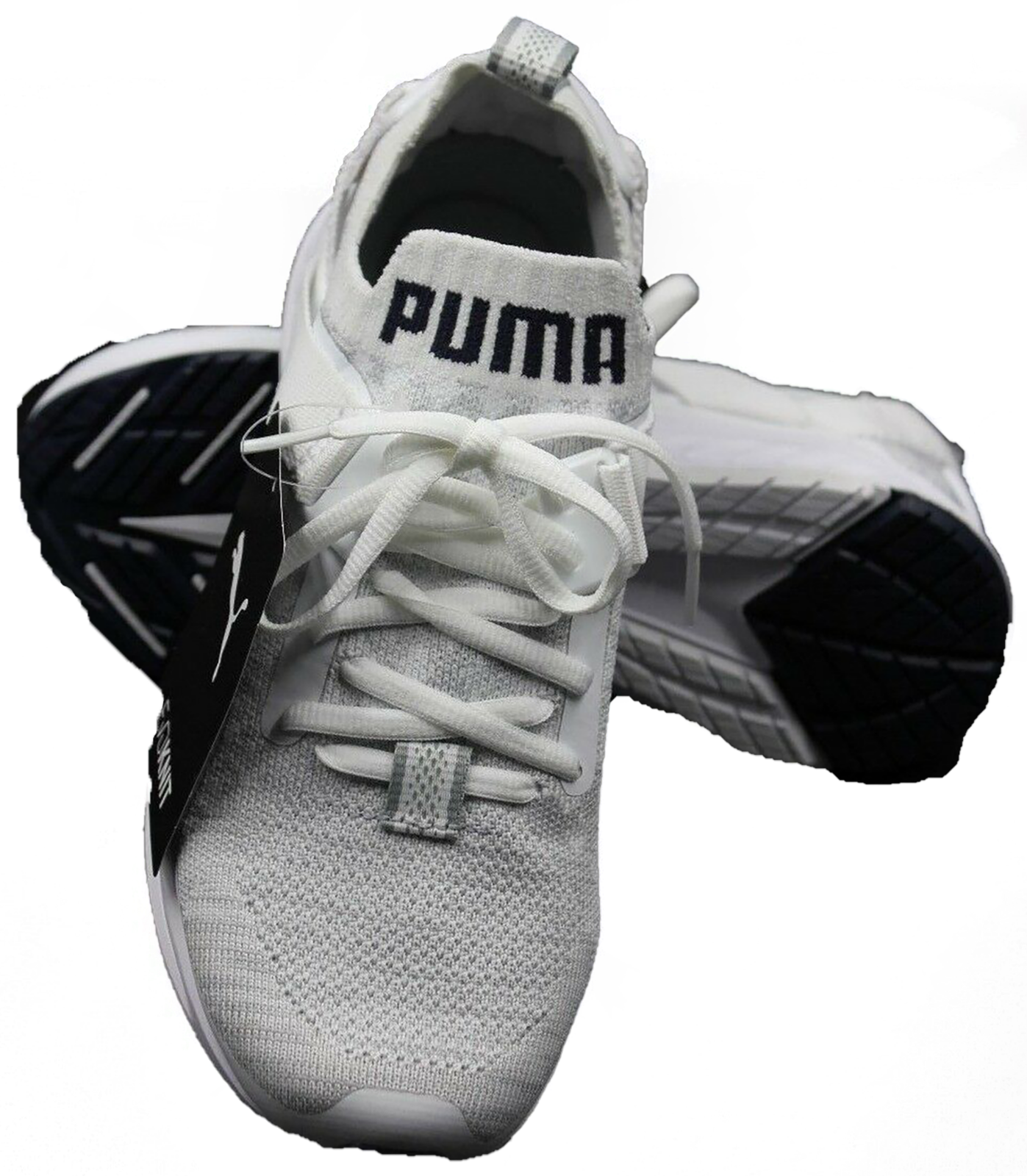 PUMA Ignite evoKnit Lo White-Vaporous Grey - Peacoat - Women's Size 5.5 - NEW