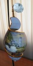 2004 Thomas Kinkade Shoreline Splendors Chandlers Lighthouse Spiral Orna... - $24.74
