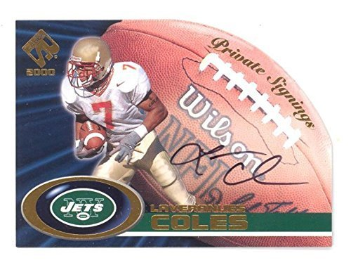 2000 Private Stock Laveranues Coles Private Signings Auto RC #24 Signed Rookie C
