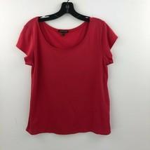 Eileen Fisher Silk Top Womens Medium Pink T-Shirt Short Sleeve Blouse B3... - $28.99