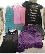 Lot of 6 Girls Size 10-12 Shirts,Leggings and Jacket - $24.99